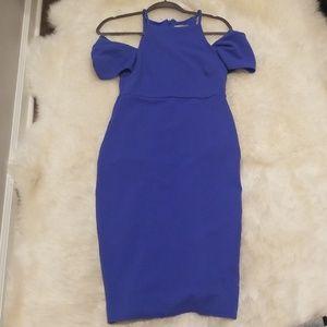 Gorgeous blue off shoulder midi dress